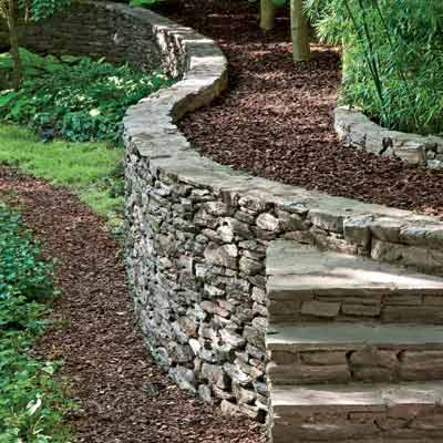 Permaculture retaining walls - How to build a garden retaining wall ...